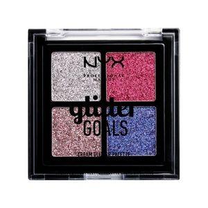 NYX Glitter Goals cream quad palettes